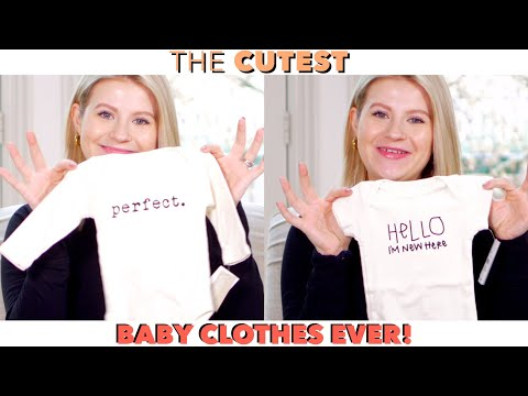 The CUTEST Baby Clothes – First Baby Haul 👶🏼