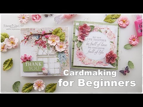 Beginners Tutorial ♡ 2 Easy Cards ♡ Maremi's Small Art ♡