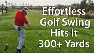 Powerful, Effortless, Pain-Free Golf Swing Hits It 320