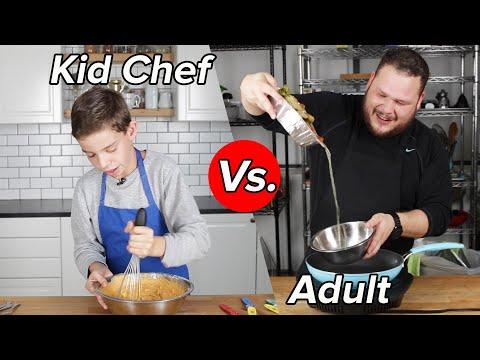 Kid Chef Vs. Adult: Thanksgiving Leftovers Challenge
