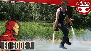 Flying Like Iron Man, Part 7: First test with rockets!