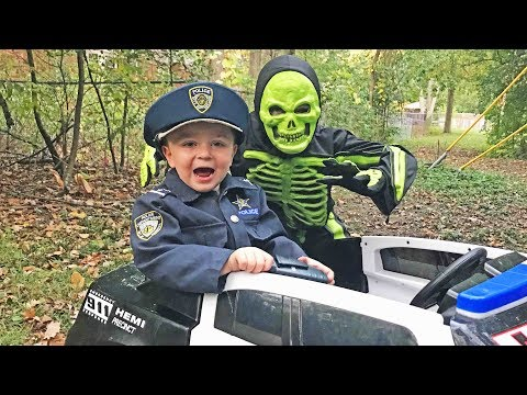 Whose that skeleton? silly Halloween video featuring Sketchy Mechanic and fun kids!