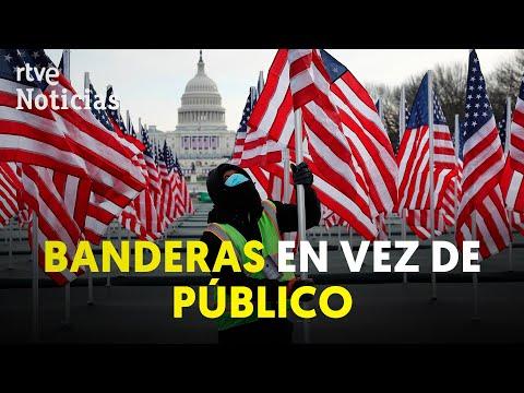 EE.UU.: 200 mil BANDERAS sustituirán al PÚBLICO en la toma de posesión de BIDEN | RTVE Noticias