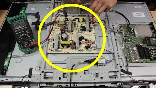 How To Repair A TV That Won't Turn On | How To Replace A TV Power Supply Board | Sony KDL 40W5710