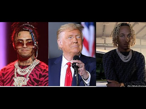 Lil Pump gets called 'LIL PIMP' by Donald Trump & goes on stage while Rich the Kid Turns Trump Down