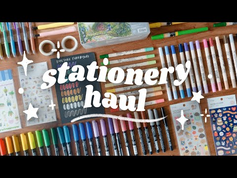 HUGE Stationery Haul! *mostly calligraphy & hand lettering supplies*