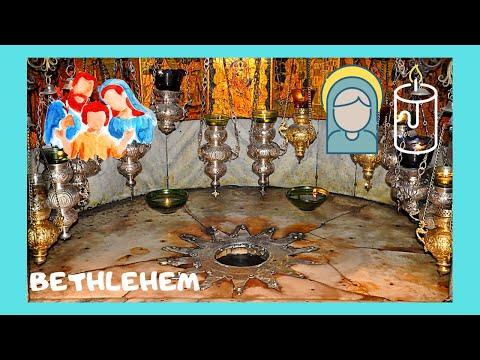 BETHLEHEM: The GROTTO OF THE NATIVITY (where JESUS CHRIST was born), rare views