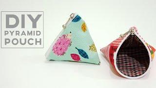 How to sew pyramid zipper pouch | 金字塔小钱包制作方法~重点是拉链如何弄到的 #HandyMum ❤❤