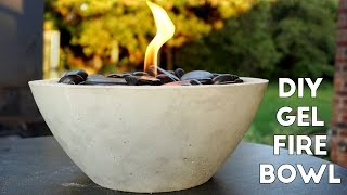 DIY Concrete Gel Fire Pit *EASY* | Modern Builds | EP. 6
