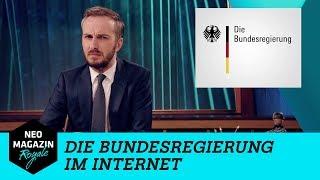 Die Bundesregierung im Internet  | NEO MAGAZIN ROYALE mit Jan Böhmermann - ZDFneo