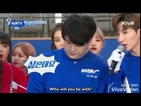 (Super TV) Everyone wants Shindong! Super Junior tug of war. Yesung went flying 😂😂