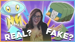 Real or Fake Pokemon Challenge With My Sister!