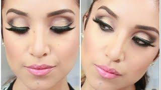 Glam Smokey Brown Eyes- Full Face Makeup Tutorial