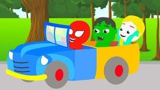SUPER KIDS BUILD A TOY CAR ❤ Funny Cartoons For Kids