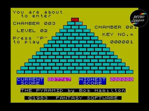 RETROJuegos Clásico - The Pyramid © 1983 Fantasy Software - ZX Spectrum
