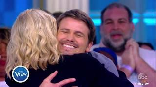 Jason Ritter Breaks Guinness World Record For Most Hugs Given In One Minute | The View
