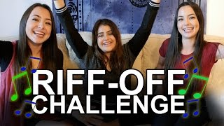 Riff-Off Challenge - Merrell Twins ft. Lauren Giraldo
