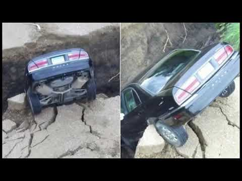 Minnesota Teen Escapes Unharmed After Car Falls Into Sinkhole