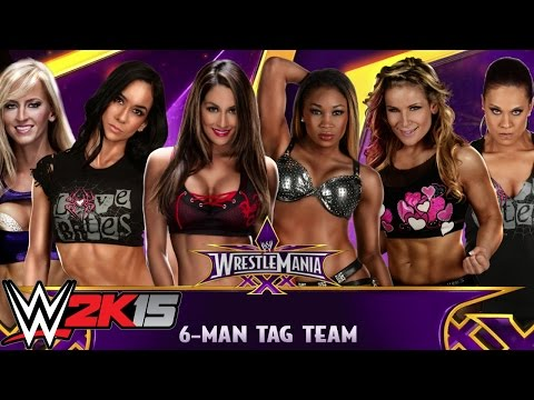 Wwe 2k15 Divas Turn 6 Man Tag Team Match Xbox One Gameplay Commentary