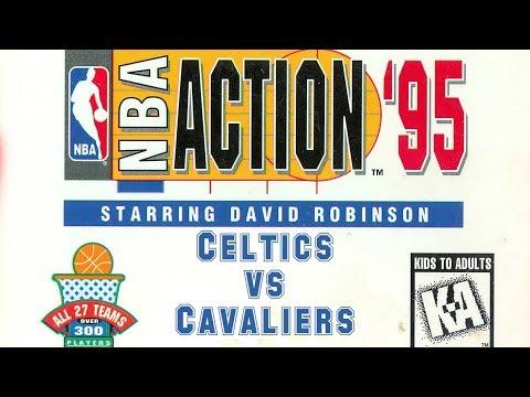 NBA Action '95 starring David Robinson (1995) - Mega Drive - Celtics vs Cavaliers