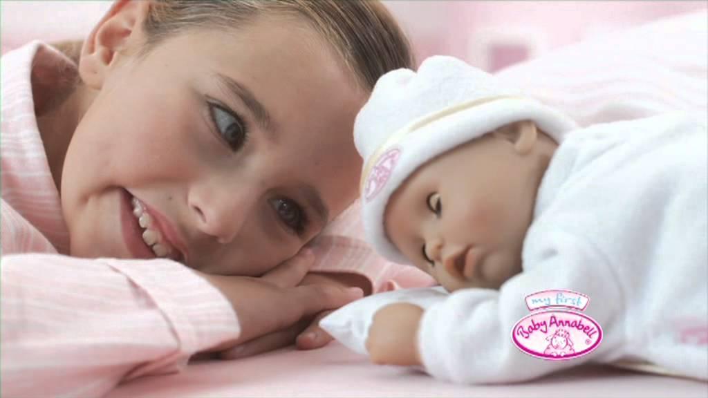 Baby Annabell - ospalá bábika - YouTube