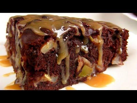 Шоколадная ШАРЛОТКА + Карамельный соус /Простой Яблочный пирог