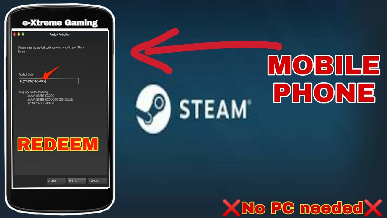 How To Redeem A Code On Steam Mobile