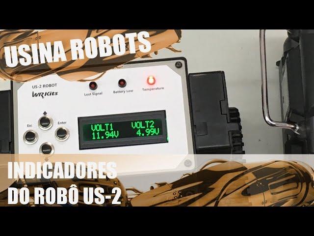 INDICADOR DE NÍVEL DE BATERIA (TESTE NO ROBÔ) | Usina Robots US-2 #121