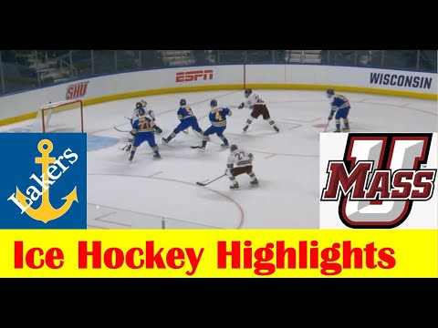 Lake Superior State vs UMass Ice Hockey Game Highlights, 2021 NCAA Bridgeport Regional Semifinal