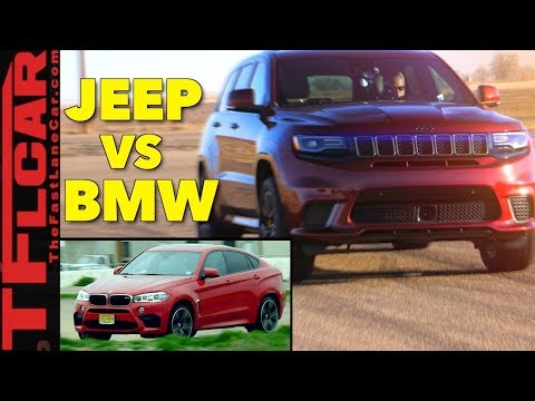 Is the 707 HP Jeep Trackhawk Faster Than The BMW X6 M? Hot or Not Review