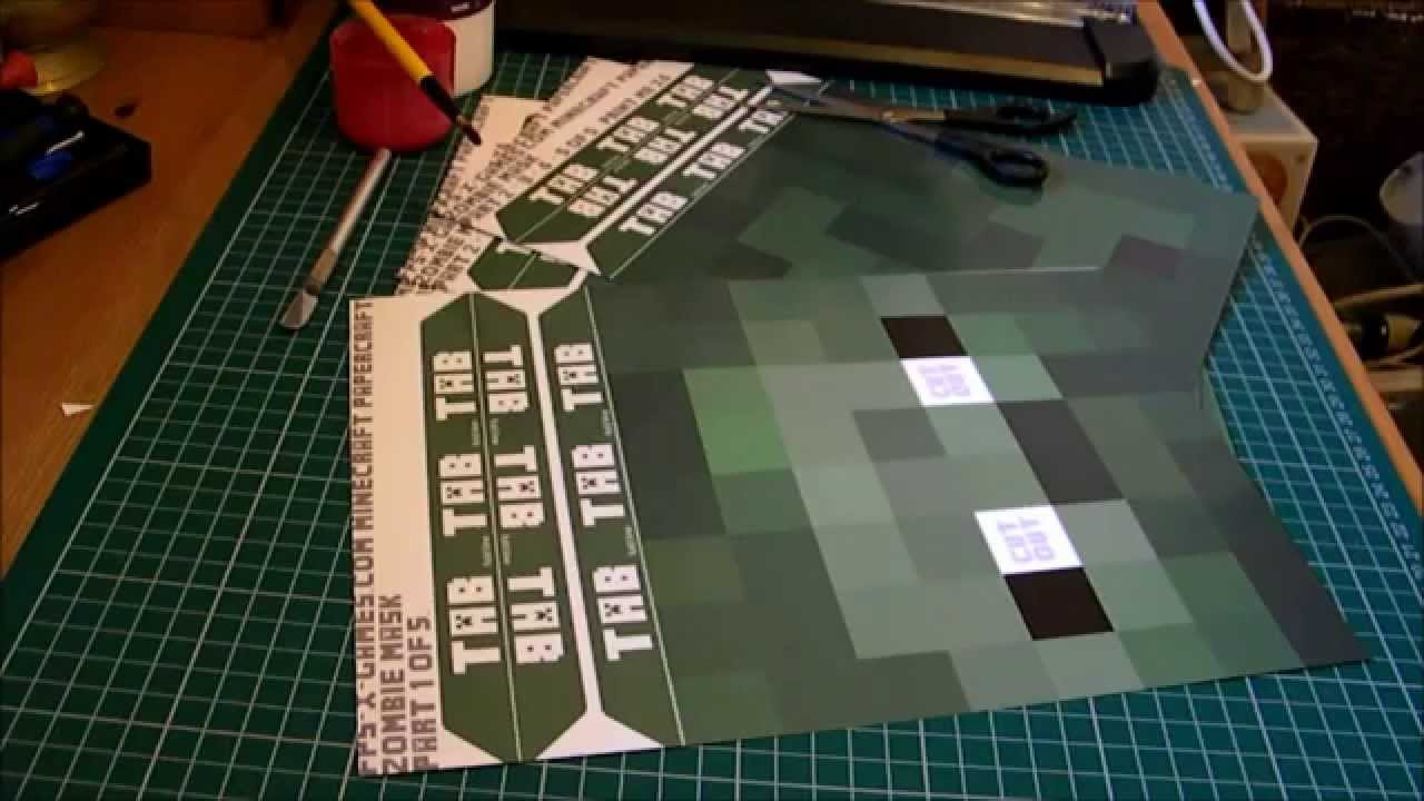 How To Make A Minecraft Mask Youtube