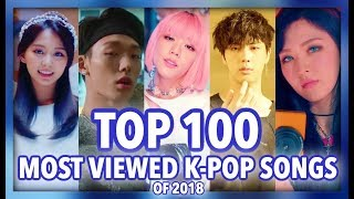 [TOP 100] MOST VIEWED K-POP SONGS OF 2018