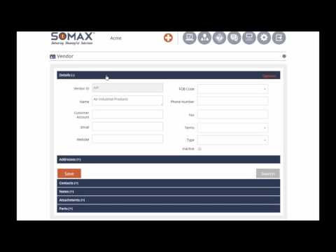 Add New Vendor - SOMAX CMMS Tutorials