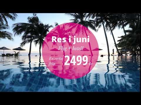 Solresor - Boka flyg + hotell i juni fr. 2499  kr per person