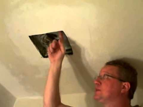 Replace a bathroom fan broan fan youtube - How to install a bathroom ceiling fan ...