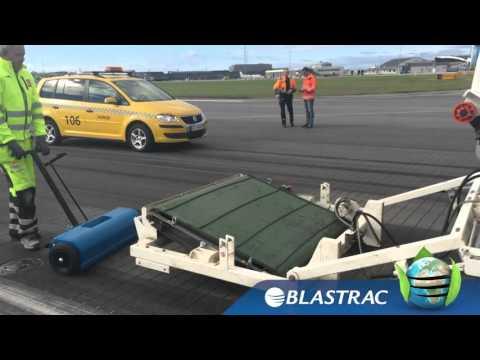Rubber Removal On Grooved Runway   Blastrac 2 45DTM Shot Blaster
