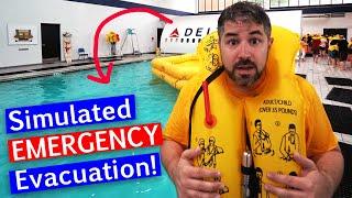 Flight Attendant Training + Emergency Landing Evacuation Demos