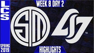 TSM vs CLG Highlights | LCS Spring 2019 Week 8 Day 2 | Team Solomid vs Counter Logic Gaming