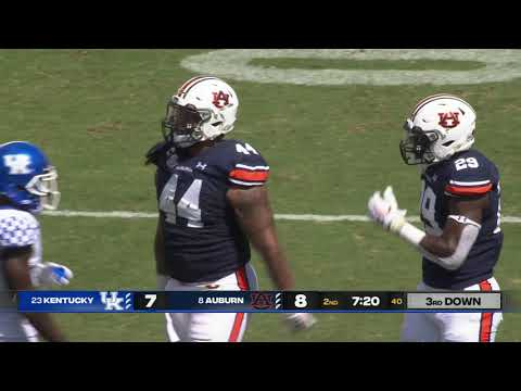 Auburn Football vs Kentucky Highlights