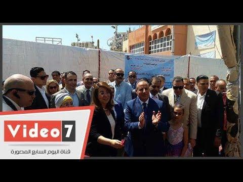 وزيرة التضامن الاجتماعى تفتتح معرض ديارنا بالإسكندرية