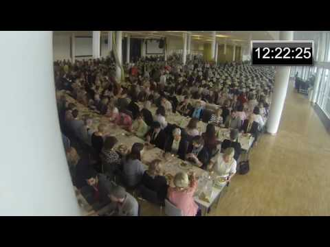 Karlstad CCC - Time-lapse video during lunch for 1500 guests