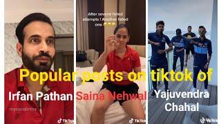 Irfan Pathan, Saina Nehwal & Yajuvendra Chahal have fu..