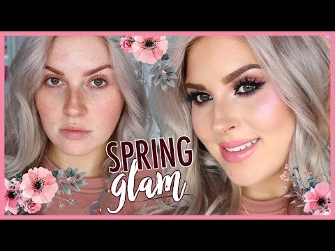 SPRING GLAM MAKEUP ? Chit Chat Get Ready With Me!