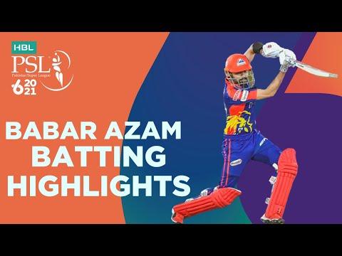 Babar Azam Batting Highlights | Karachi Kings vs Islamabad United | Match 6 | HBL PSL 6 | MG2T