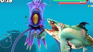 Hungry Shark World - Killer Whale vs New Colossal Squid ...