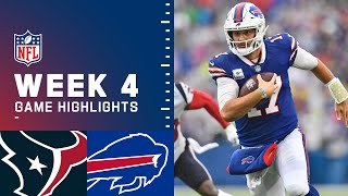 Texans vs. Bills Week 4 Highlights | NFL 2021