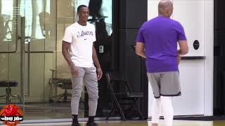 Wow Rajon Rondo Lakers Shooting Practice, WET From 3. HoopJab NBA