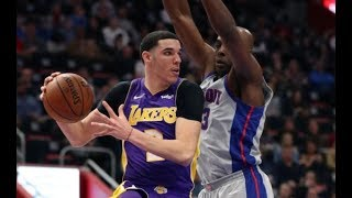 Lonzo Ball Makes Almost Every Shot | 88% FGM vs Pistons Full Highlights