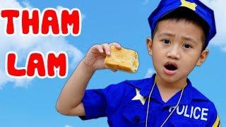 Trò Chơi Chàng Cảnh Sát Tham Lam Và  Nhút Nhát  - Bé Nhím TV - Đồ Chơi Trẻ Em Thiếu Nhi