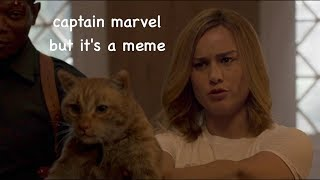 captain marvel but it's a meme